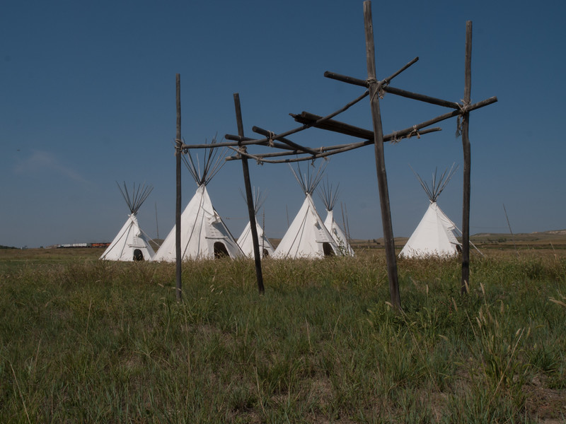 Blackfeet burial platform. Fort Union Trading Post National National Historic Site, North Dakota/Montana