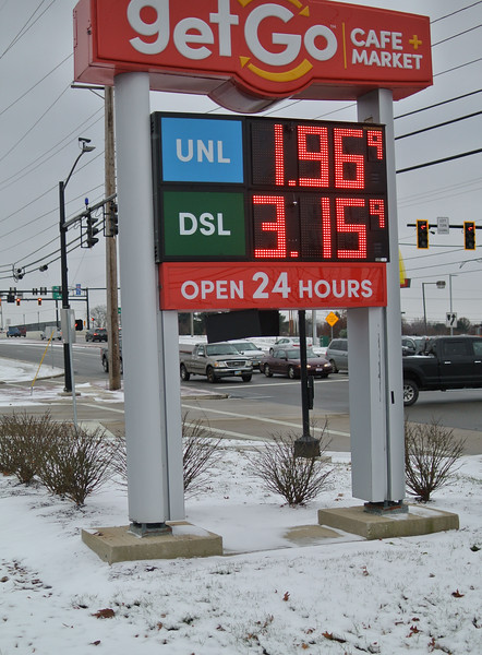 Gas prices dropping down below $2