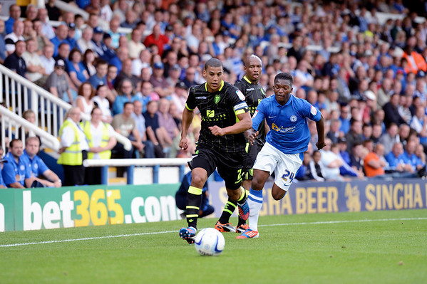 Peterborough United 1 - 2  Leeds United  25.08.12  NO FOOTBALL IMAGES FOR SALE OR REPRODUCTION