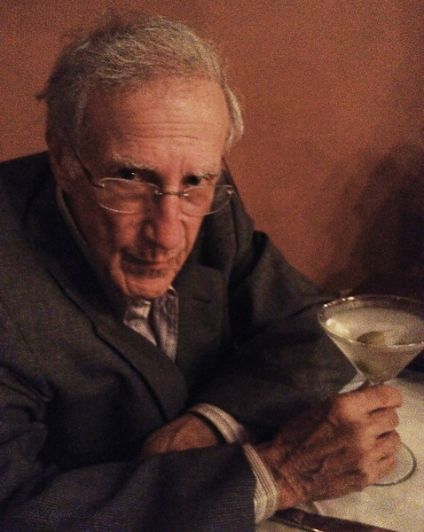 Larry with martini, at the Herdic House restaurant. Oct 5 2012