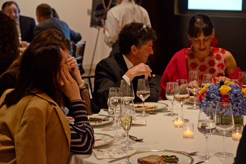 Michael Gross, Marcia Mishaan AVENUE MAGAZINE Presents the SALON DINNER & CONVERSATION about PUBLIC ART Featuring YVONNE FORCE VILLAREAL 10 Hudson Yards NYC, USA - 2017.04.06 Credit: Lukas Greyson