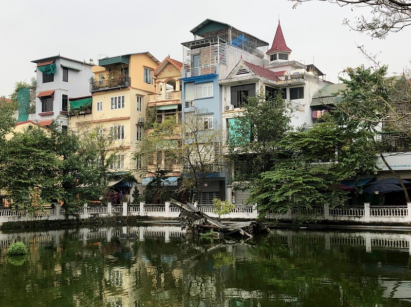 Part of the B52 crashed in this small pond - Hanoi