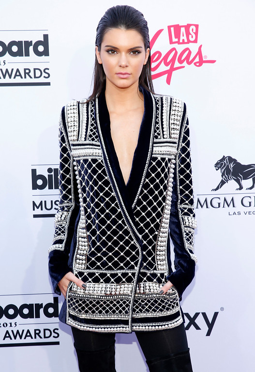 . Kendall Jenner arrives at the Billboard Music Awards at the MGM Grand Garden Arena on Sunday, May 17, 2015, in Las Vegas. (Photo by Eric Jamison/Invision/AP)
