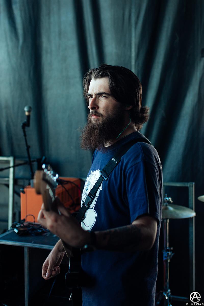 Matt West of Neck Deep live at Vans Warped Tour 2015 by Adam Elmakias
