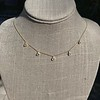 1.01ctw Trillion Rose Cut Diamond Scatter Necklace 18