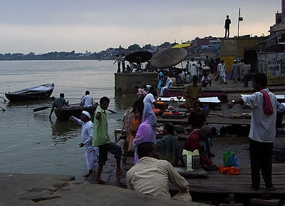 on the Ganges River, Varanasi, India