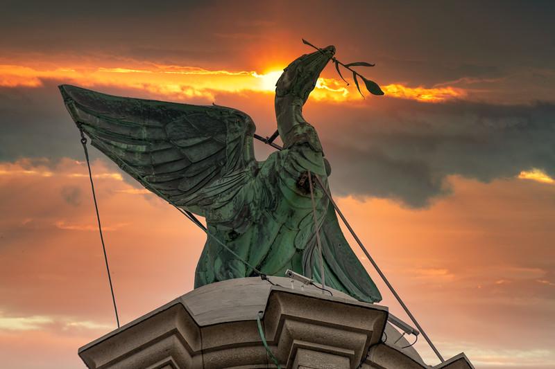 Liver Bird Bertie, Standing Proud Over the City of Liverpool