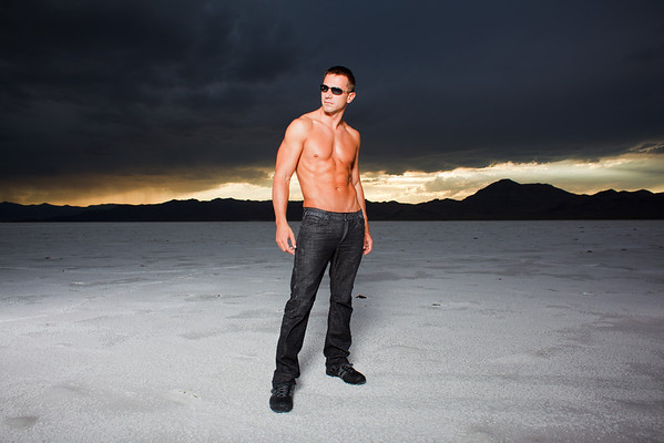 Jacob Whipple on the Utah Salt Flats