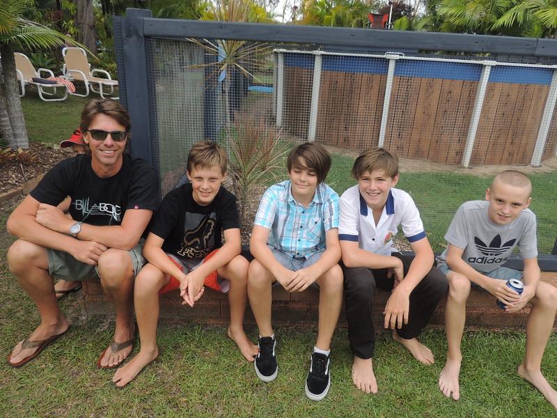 Nathans Dad, Nathan, Eden, Finn & Jacob Gelling Together Outside The Dojo!
