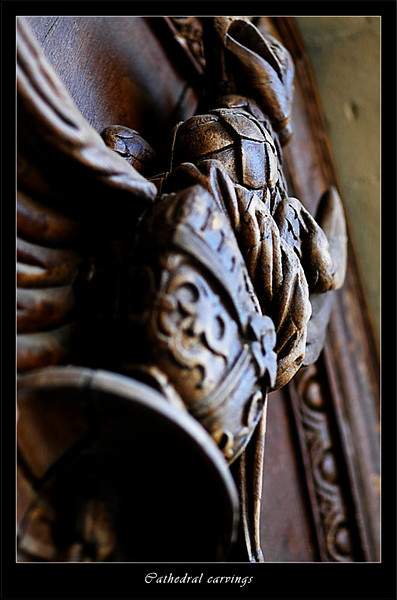 Carving on the doors to Bath Cathedral (80356478).jpg