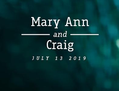 Mary Ann & Craig 2019
