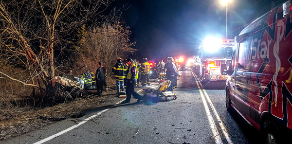 Auto Accident with entrapment - All Angels Hill  Rd. 2/23/2020Rd just north of Kent Rd.