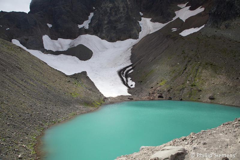 Glacial melt pool at Three Fingered Jack
