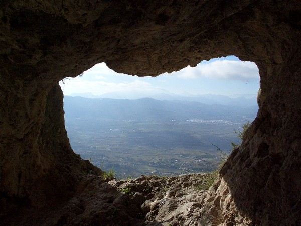 From a Montgo cave