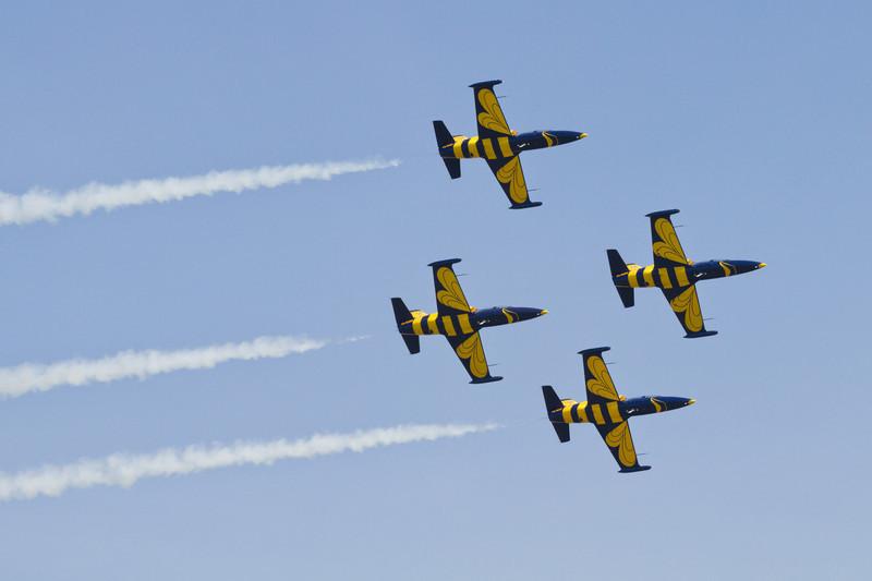4 x L-39 Albatros, Baltic Bees Jet Team (Lotyšsko)
