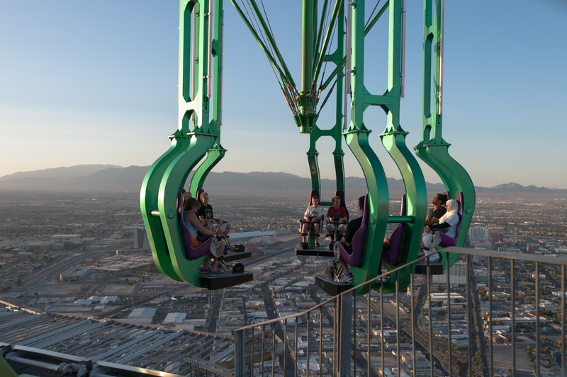 Insanity ride on top of the Stratosphere