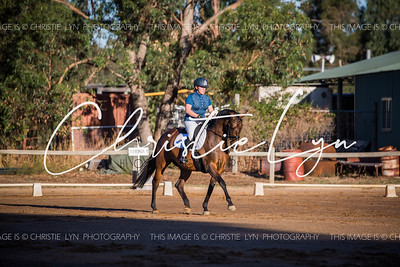 Henty Night Dressage Training 4th Feb 2017