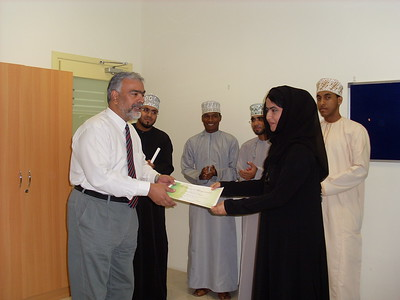 Volunteers certificate presentation