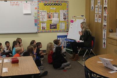First-grade reading at Kooser Elementary