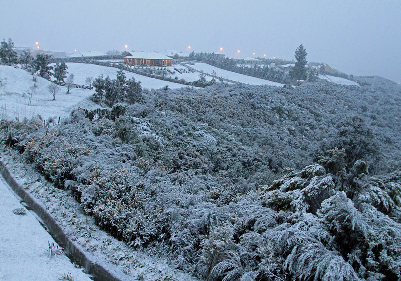 Snow in Riverstone - Sunday evening 14th August 2011.