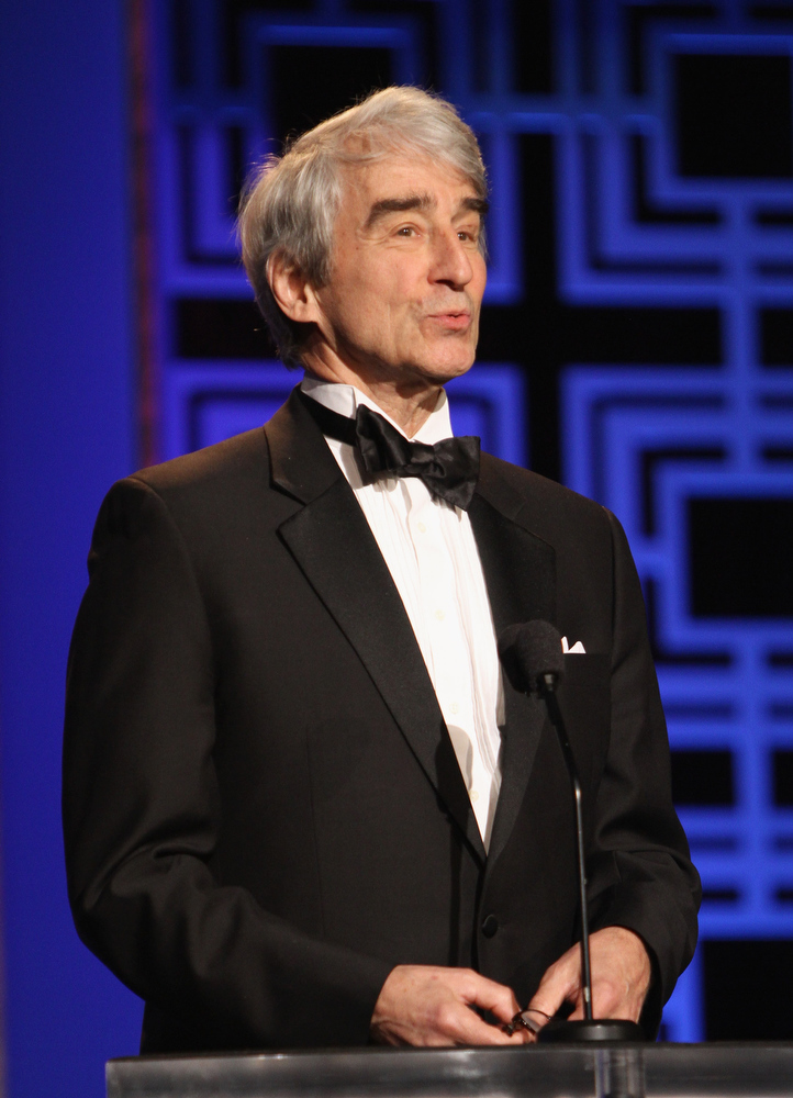 Description of . Actor Sam Waterston speaks onstage during the 2013 WGAw Writers Guild Awards at JW Marriott Los Angeles at L.A. LIVE on February 17, 2013 in Los Angeles, California.  (Photo by Maury Phillips/Getty Images for WGAw)