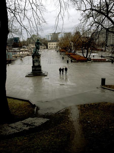 The City Hall Plaza seen from the Akershus Fortress, Oslo. ********** Rådhusplassen, sett fra Akershus festning. Oslo. (Foto: Geir)