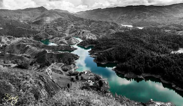 Blue River. Guatapé, Colombia