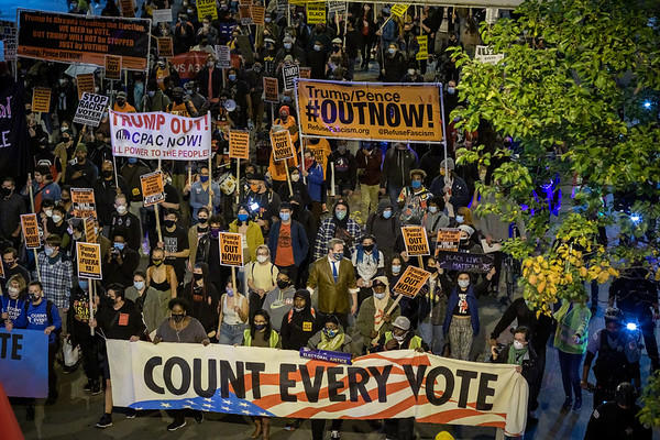 """""""Count Every Vote"""" Protest in Chicago - 11/4/20"""