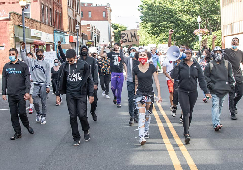 """Photo by Dwayne """"Dougie D"""" Backus A protest rally in New Britain Sunday"""