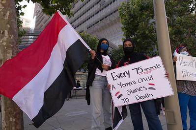 17 July 2021 San Francisco:  Hands Off Yemen Rally