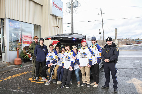 Salvation Army/OPP/MNR Food Drive.