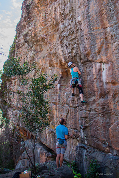 Jess going in to battle at the ravine, Grampians