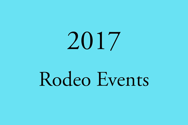 2017 Rodeo Events