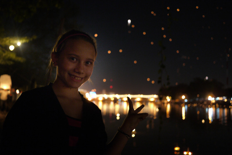 Ana, Loy Krathong in Chiang Mai, Thailand