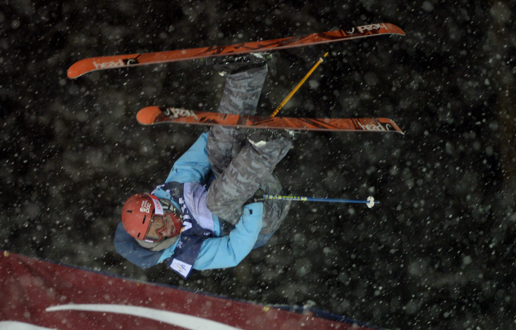 . COPPER MOUNTAIN, CO. DECEMBER 20: Alex Ferreira is in action during the ski halfpipe final U.S. Snowboarding Grand Prix. Copper Mountain, Colorado. December 20. 2013. (Photo by Hyoung Chang/The Denver Post)