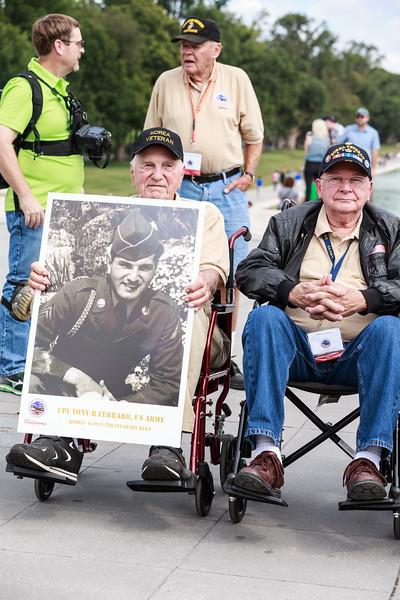 R Seated Veteran = Ferraro, Tony;  L Seated Veteran =  Coy, Larry; Standing Veteran = ???