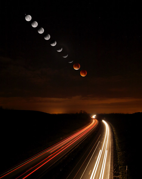 Lunar Eclipse Trails
