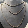 Vintage Yellow Gold Long Chain with Pearl Accents 13