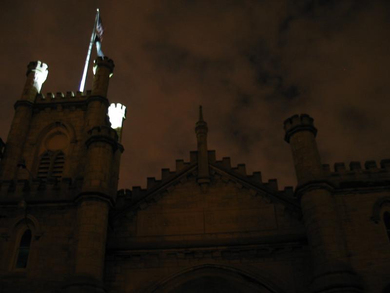 Castle with night sky