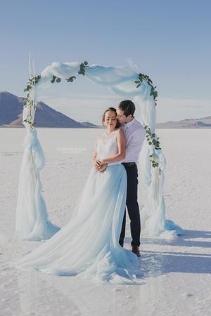 Romantic Elopement  - Bonneville Salt Flats