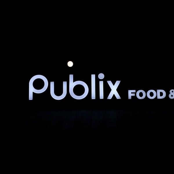 Don't forget to dot the 'b'. #moonporn #publix #supermoon #atlanta #chastainsquare @publix