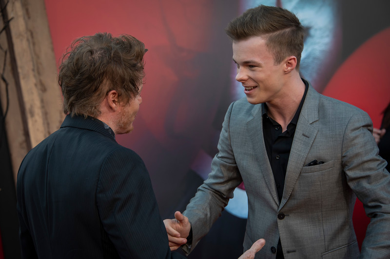 """WESTWOOD, CA - AUGUST 26: Teach Grant and Nicholas Hamilton attend the Premiere Of Warner Bros. Pictures' """"It Chapter Two"""" at Regency Village Theatre on Monday, August 26, 2019 in Westwood, California. (Photo by Tom Sorensen/Moovieboy Pictures)"""