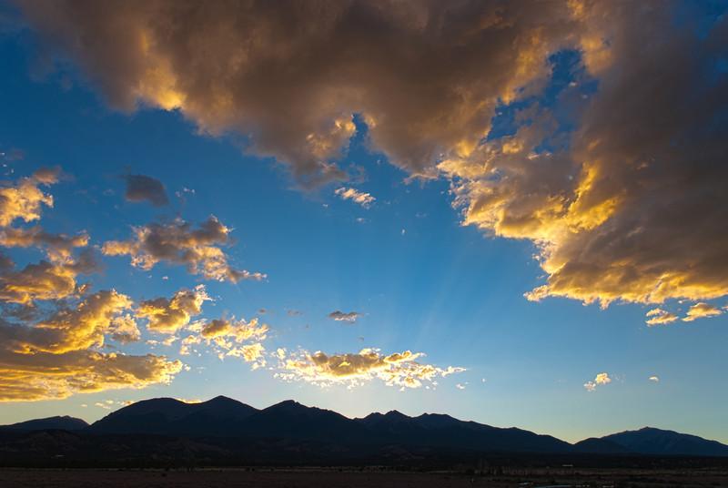 Sunset over the Collegiate Peaks of Colorado