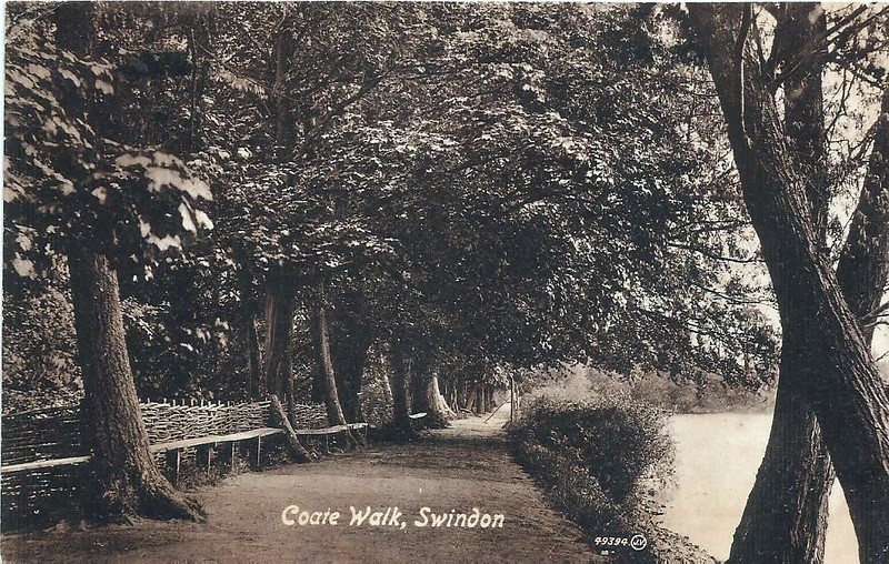 Coate Walk showing hurdle fences 1925