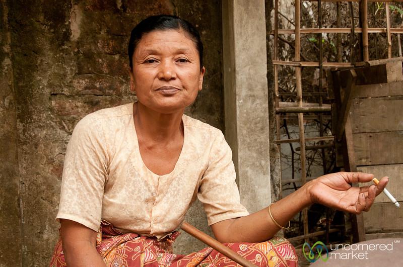 Smoking Lady at the Market - Bandarban, Bangladesh