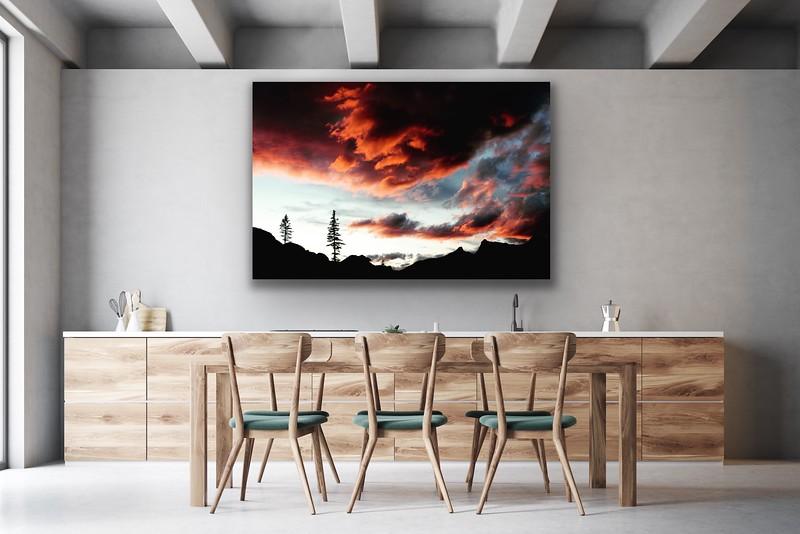 'Valhalla Sunset' Canvas Wrap or Float Mount Metal Print