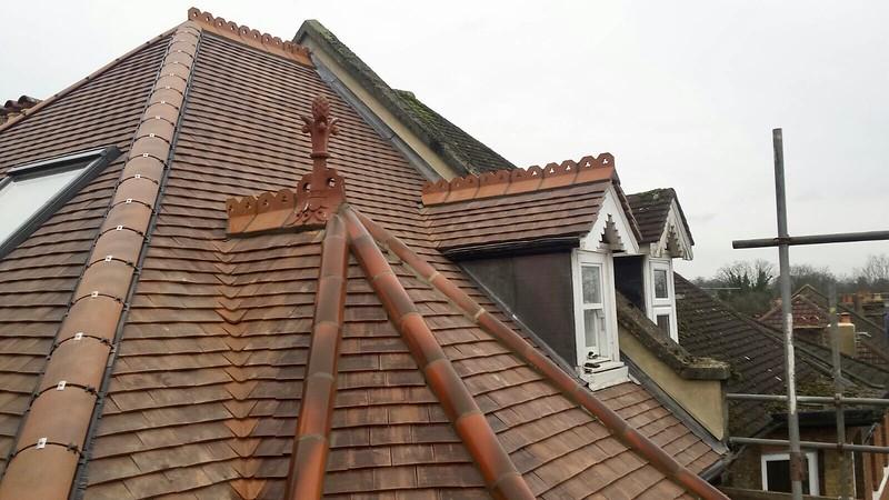 Ornamental Ridge and Finial Detail