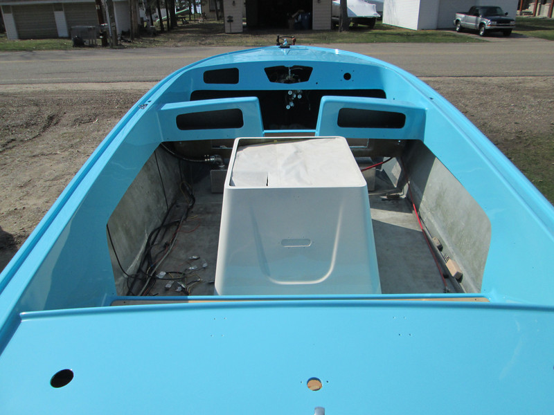 Rear deck and inside view.