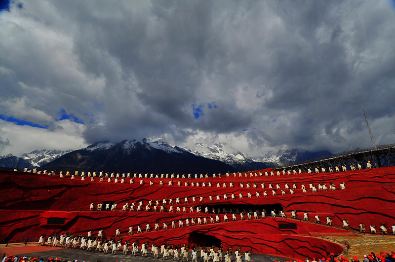 Jade Dragon Snow Mountain Open Air Theatre Performance - Lijiang, China
