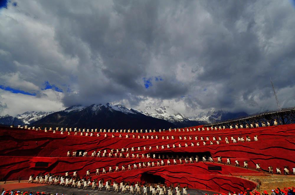 Jade Dragon Snow Mountain Open Air Theatre Performance - Lijiang, China